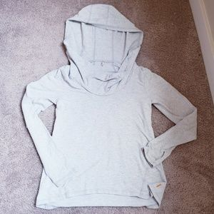 Lucy Funnel Hoodie; heathered gray Size S